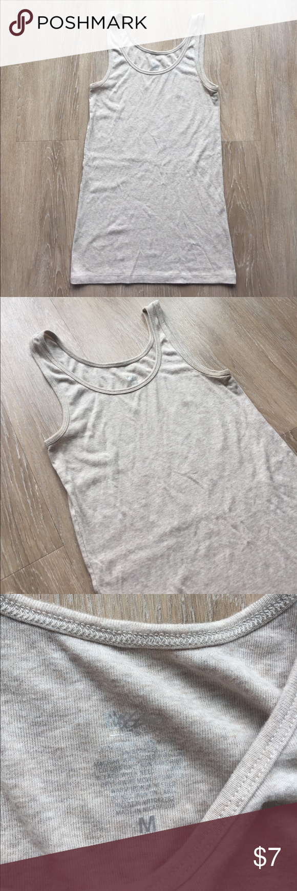 Cream tank! In great condition! 10% off bundle of 3 or more items! Smoke free home. No trades. Make me an offer! ❤😄 Mossimo Supply Co Tops Tank Tops