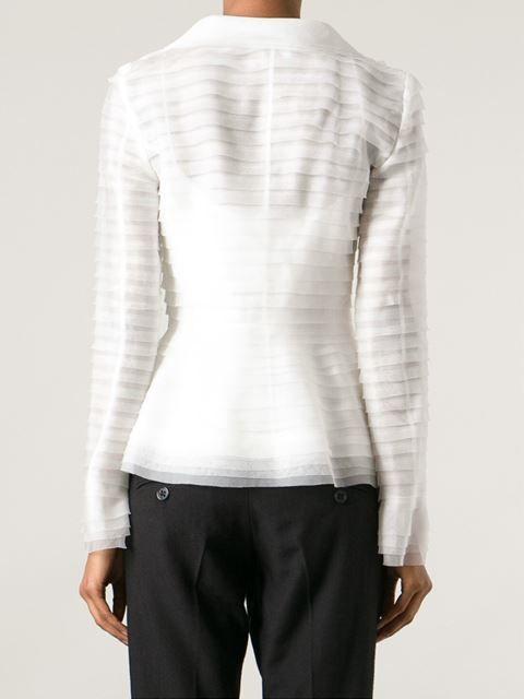 Oscar De La Renta Sheer Layered Jacket -  - Farfetch.com