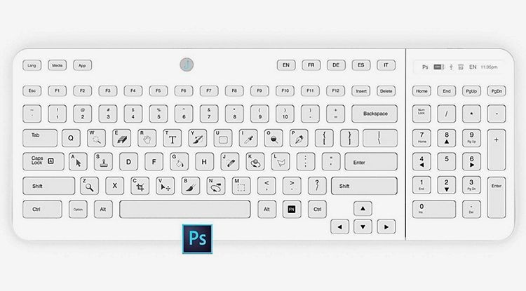 E-Paper Keys Allow The Jaasta Keyboard To Offer Full ...