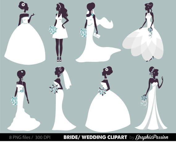 Wedding Clipart Bridal Clipart Bride Clipart By GraphicPassion