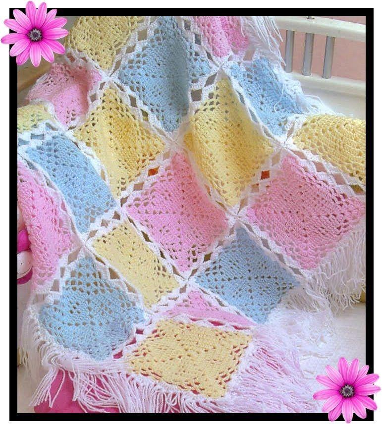 بطانيات كروشيه للأطفال عالم الكروشيه Crochet Crochet Blanket Crochet Baby