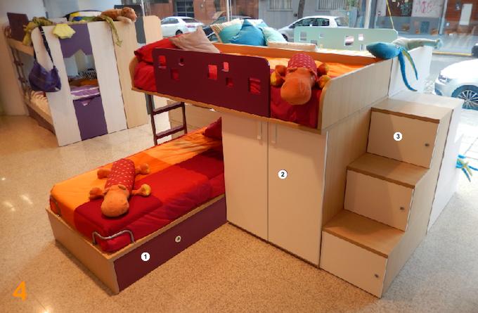 Escritorio nena cama dormitorio pieza habitacion juvenil for Escritorio habitacion juvenil