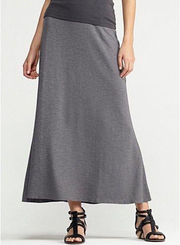 145e4f33c80d Eileen Fisher flutter maxi skirt in organic cotton hemp twist  148 ...