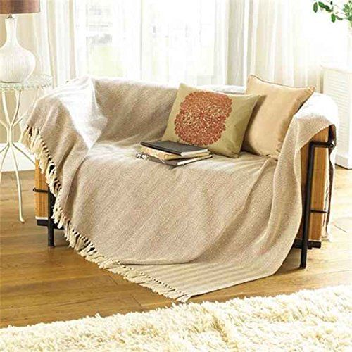 Collie Zigzag Natural Cream Brown Beige Bed Chair Sofa Settee Cotton Throw Blanket With Tels Extra Large 170cm X 200cm Co Uk Kitchen Home