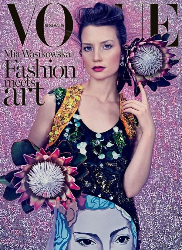 Chic Wonderland Editorials - This Vogue Australia Editorial Features Model Mia Wasikowska (GALLERY)