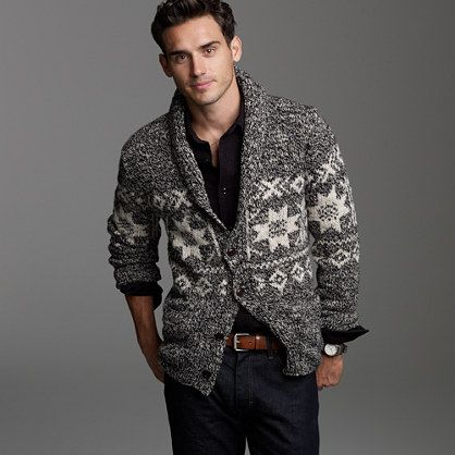 Shawl-collar Fair Isle cardigan / j. crew | Threads | Pinterest ...