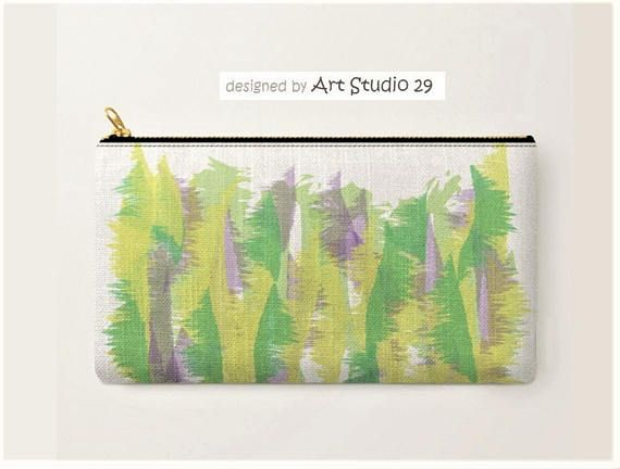 Green-Carry-All Pouch-abstract design Art Studio 29-Cosmetic