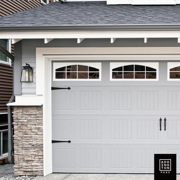 Addington Park 1 Light Textured Black Transitional Outdoor Wall Sconce 31742 The Home Depot In 2021 Garage Door Styles Garage Door Design Garage Doors