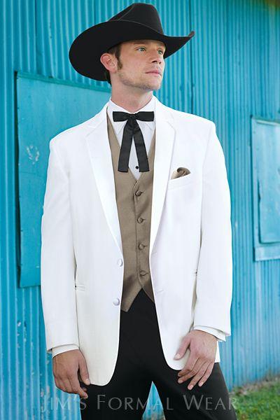 Stephen Geoffrey Troy White Western Tuxedo | Jim\'s Formal Wear ...