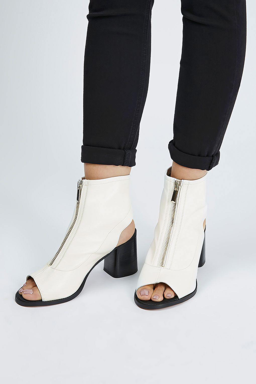 Topshop Nappa Zip Front Shoe Boots T13btPQ90t
