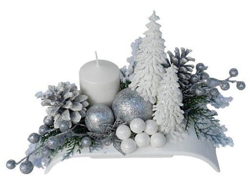 Stroik Swiateczny Boze Narodzenie Swieca 12 7041765950 Oficjalne Archiwum Allegro Christmas Table Centerpieces Christmas Candle Decorations Elegant Christmas Trees