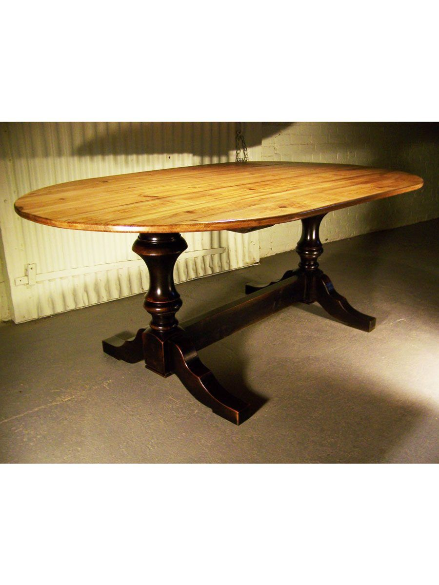 Sheffield Barn Wood Trestle Table Any Size Or Color Cottage