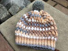 Instructions: chapeau pompon avec des points de touffe   – Häkeln