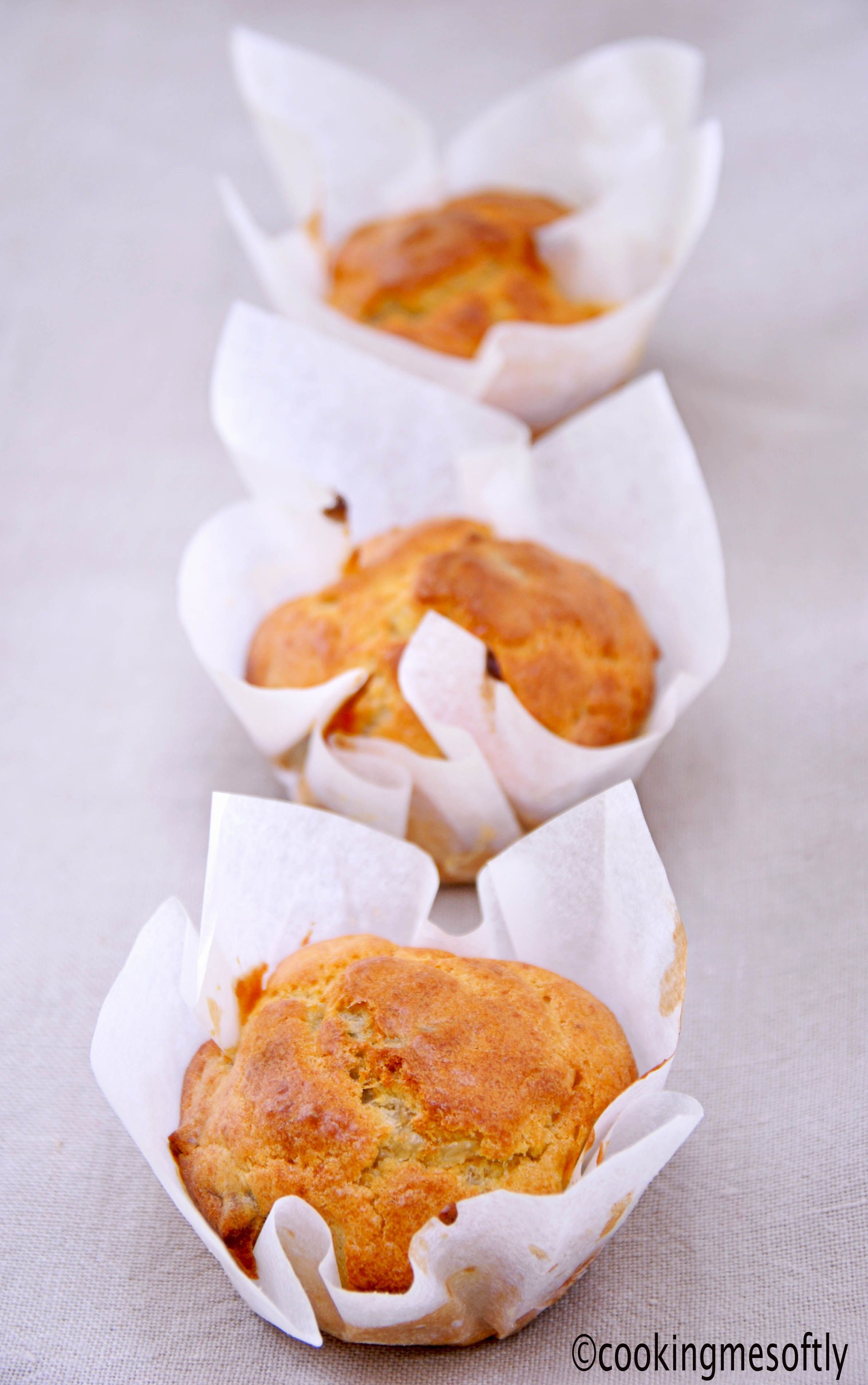 Muffin con Leerdammer e noci