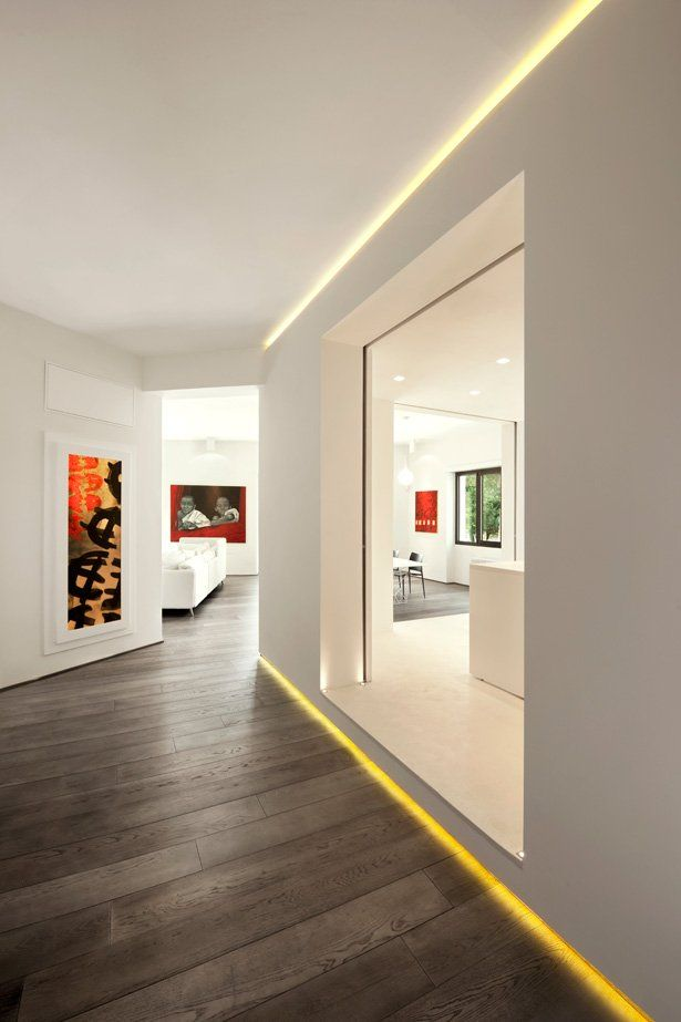 moderne flurgestaltung und beleuchtung flur pinterest flurbeleuchtung minimalistisch. Black Bedroom Furniture Sets. Home Design Ideas