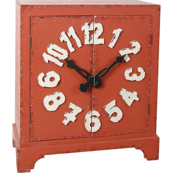 A&B Home Cabinet With Clock
