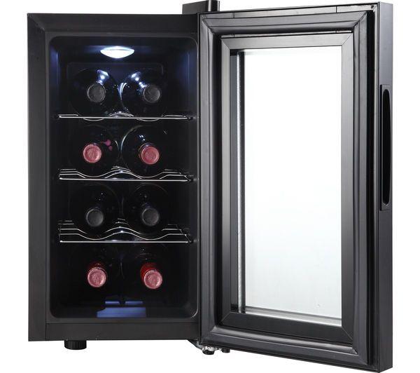 Currys Essentials CWC8B15 Wine 8-Bottle Cooler Black 8-18°C 160 kWh ...