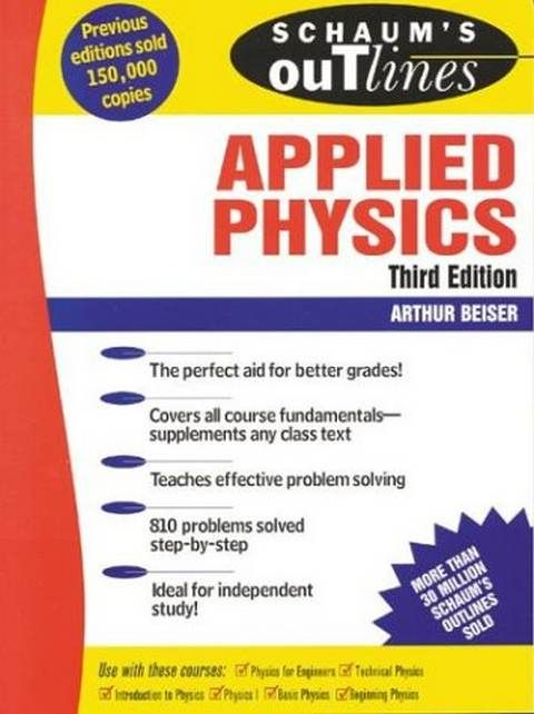 Schaum S Outline Of Applied Physics Third Edition Pdf Books Basic Electrical Engineering College Physics Physics Books