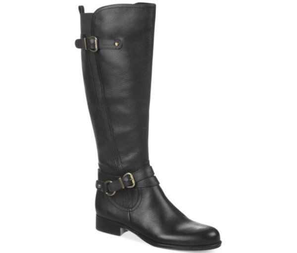 b14df66cac0 Details about WOMENS BLACK LEATHER KNEE HIGH BANDOLINO BOOTS 6.5M ...