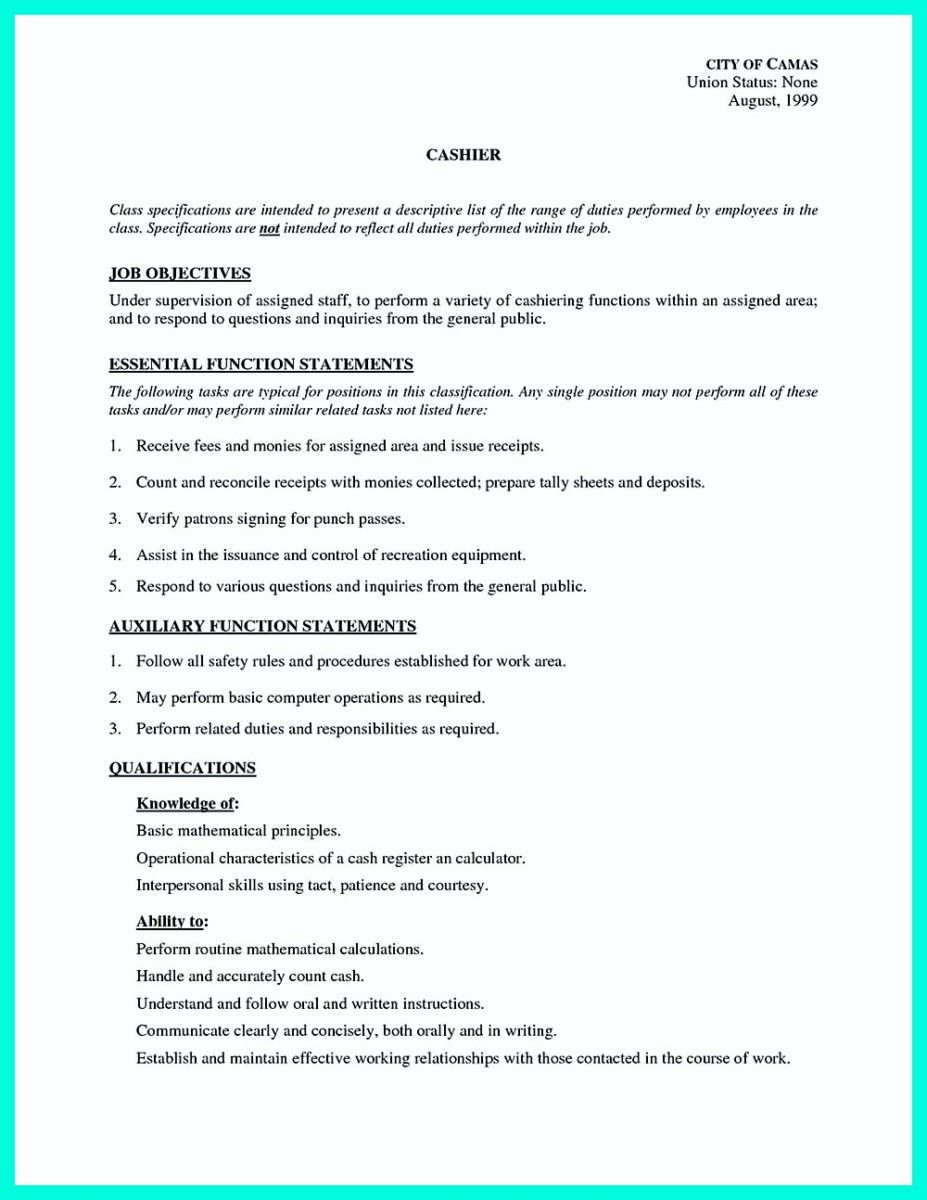 cool Terrible Mistakes to Avoid When You Make Your Cashier Resume ...