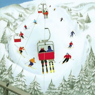 Carte Anniversaire Skieur.Greetings Card By Kim Martin Ski Carte Anniversaire