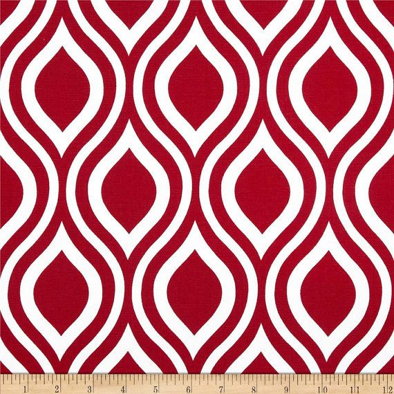 Red Geometric Valance.Red Window valance. Geometric Valance Red ...