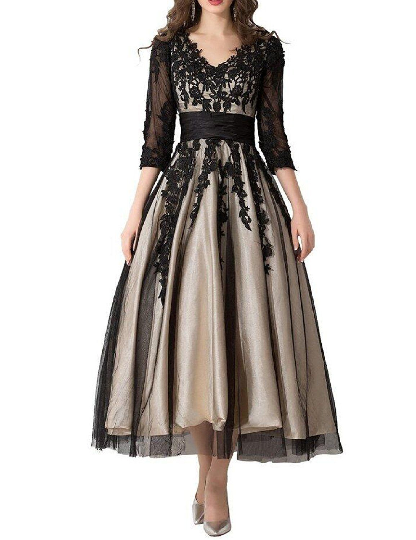 b2fb56d4 Tea Length Prom Dresses Amazon
