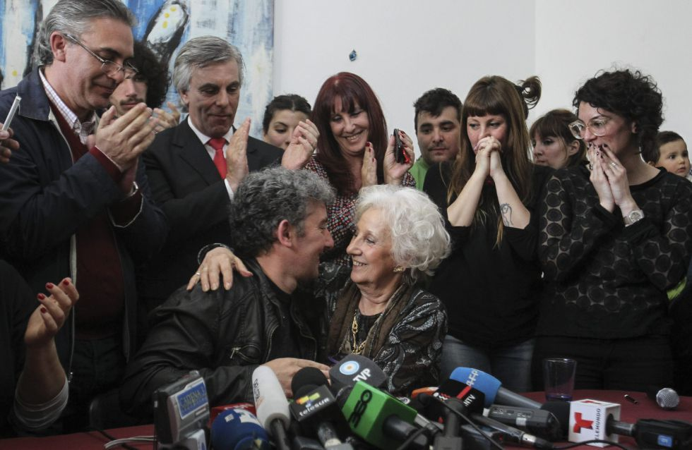 Argentina's De Carlotto Finally Hugs Grandson After Nearly 40 Years