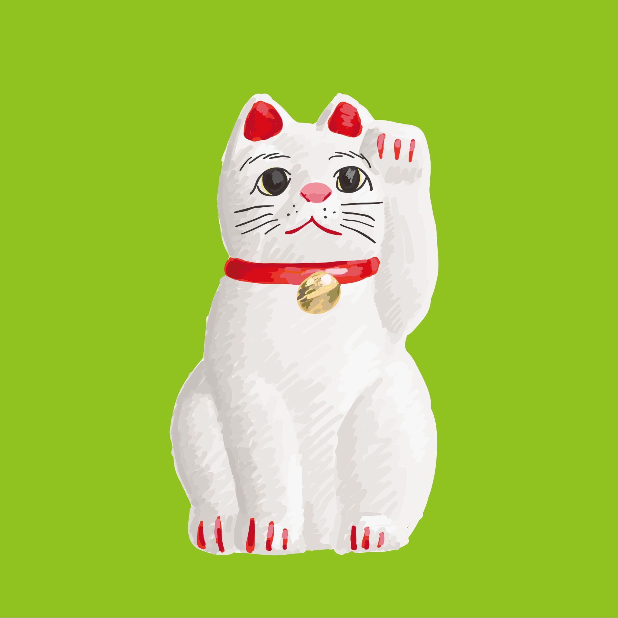 今日のイラストは招き猫