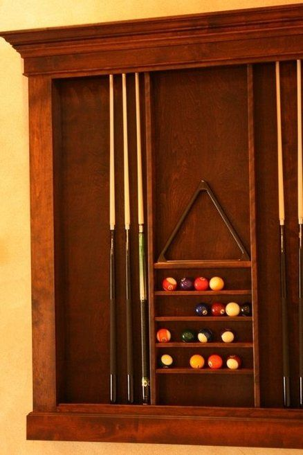 Pool cue rack by trickydick for Cue rack plans