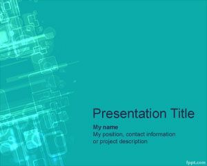 This microsoft powerpoint template with blue background color is cyberspace powerpoint template is a free ppt template with high tech background toneelgroepblik Images