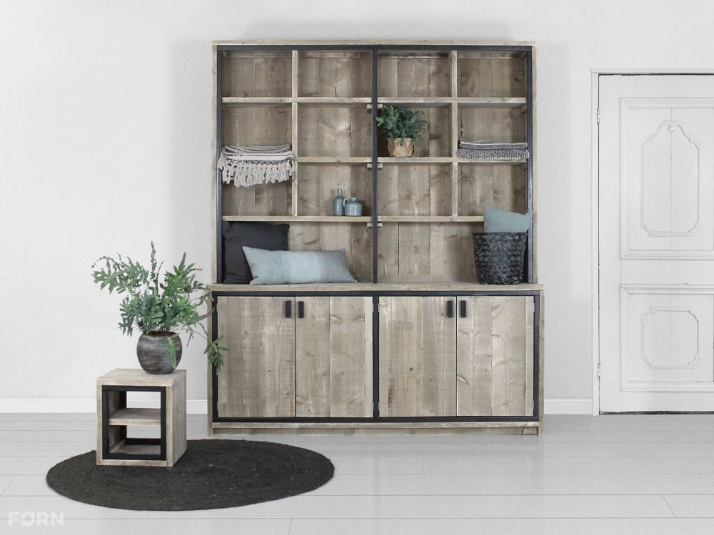 Wohnideen Büro Im Wohnzimmer industriedesign büffetschrank luca bauholzmoebeldesign de küche