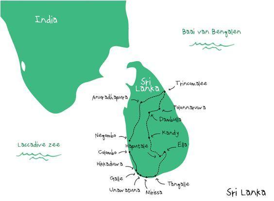 backpack route sri lanka - backpacken in azie | azie | pinterest