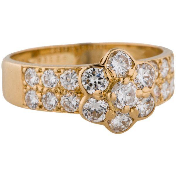a9d99cd01c393 Pre-owned Van Cleef   Arpels Fleurette Diamond Ring ( 10