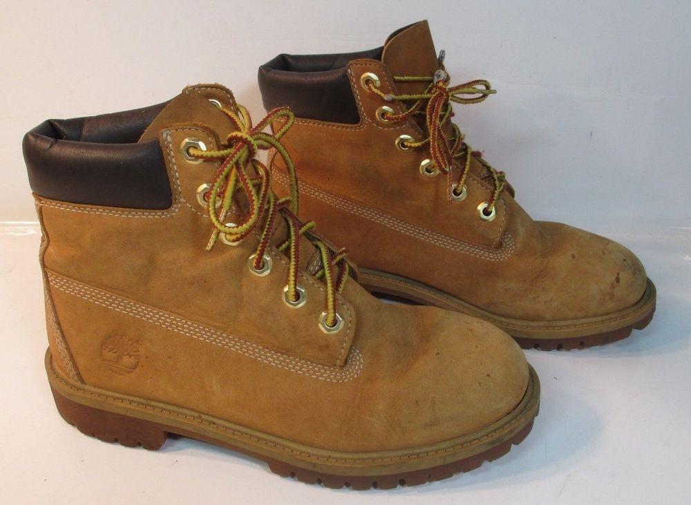 9a87f546622 Boys TIMBERLAND 6Inch Premium Waterproof Boots Wheat Classic 12909M ...