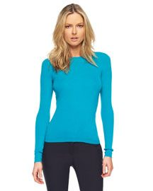 Michael Kors   Featherweight Cashmere Crewneck Sweater, Turquoise