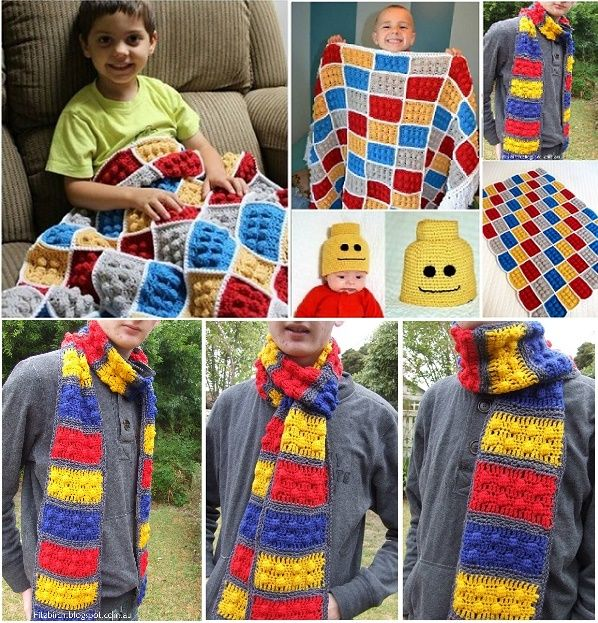 Awesome lego pattern!  Our geek den needs that blanket!