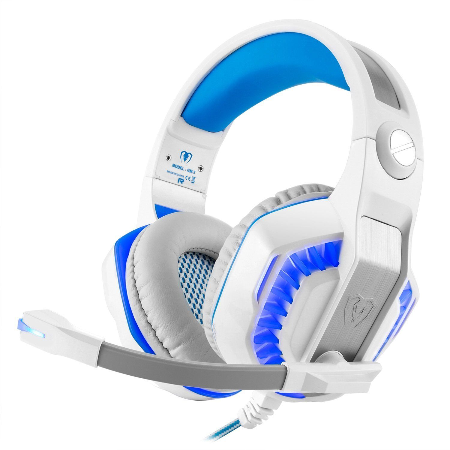 Gaming Headset with Extra 3.5mm Splitter Cable, Noise
