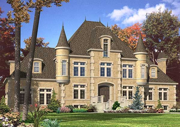 Plan 9025pd 4 Bed French Chateau House Plan Castle House Plans