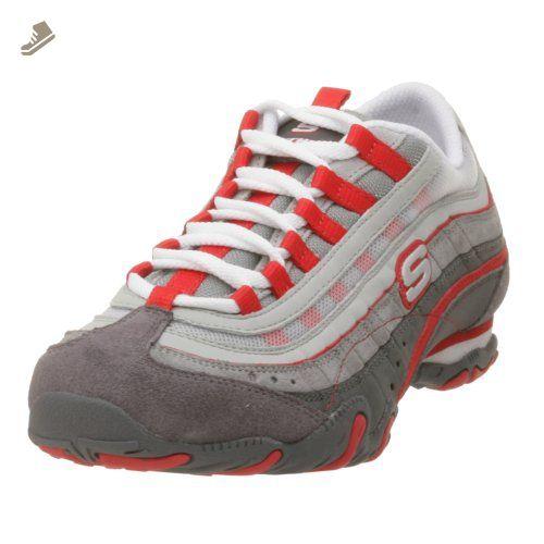8948d4b319a34 Skechers Sport Women's Imprints Sneaker,Gray/Red,10 M - Skechers ...