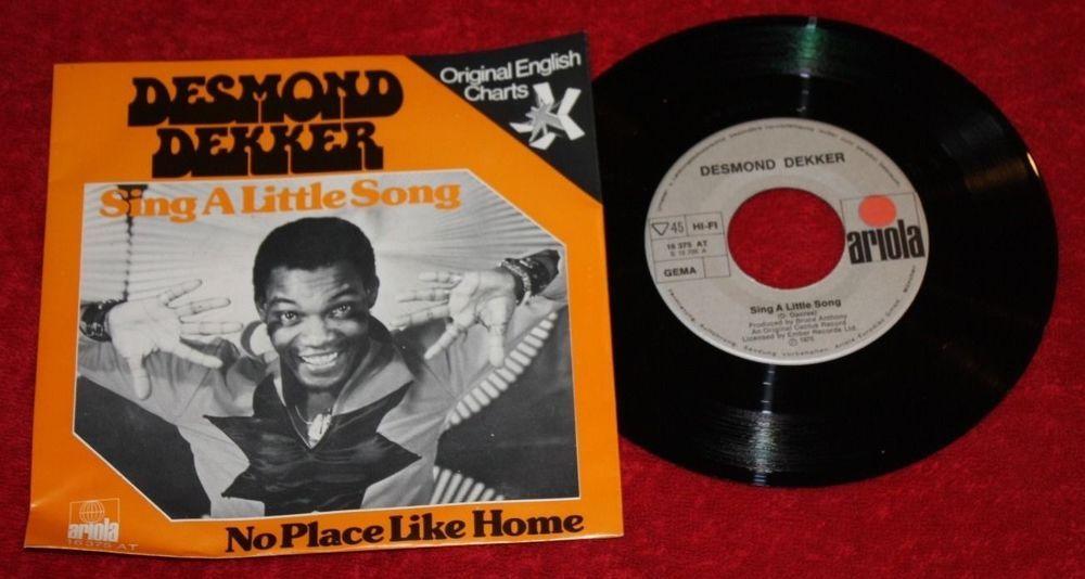 Desmond Dekker Sing A Little Song Vinyl 7 Single Ariola Vinyl Schallplatten Schallplatten Vinyl
