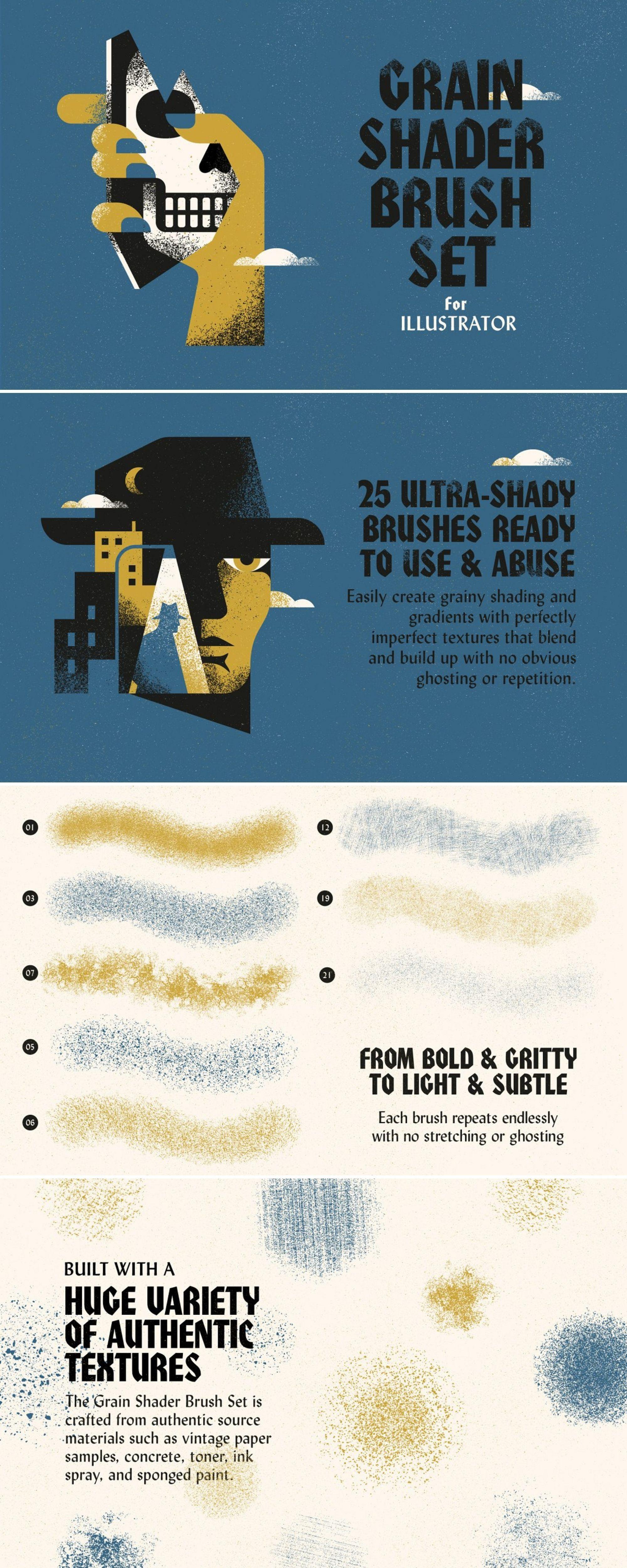 Grain Shader Brushes For Illustrator Illustration Shader Brush Graphic Design Illustration