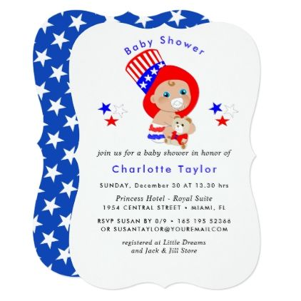 Patriotic uncle sam american baby shower card invitations custom patriotic uncle sam american baby shower card invitations custom unique diy personalize occasions various invitations pinterest filmwisefo Choice Image