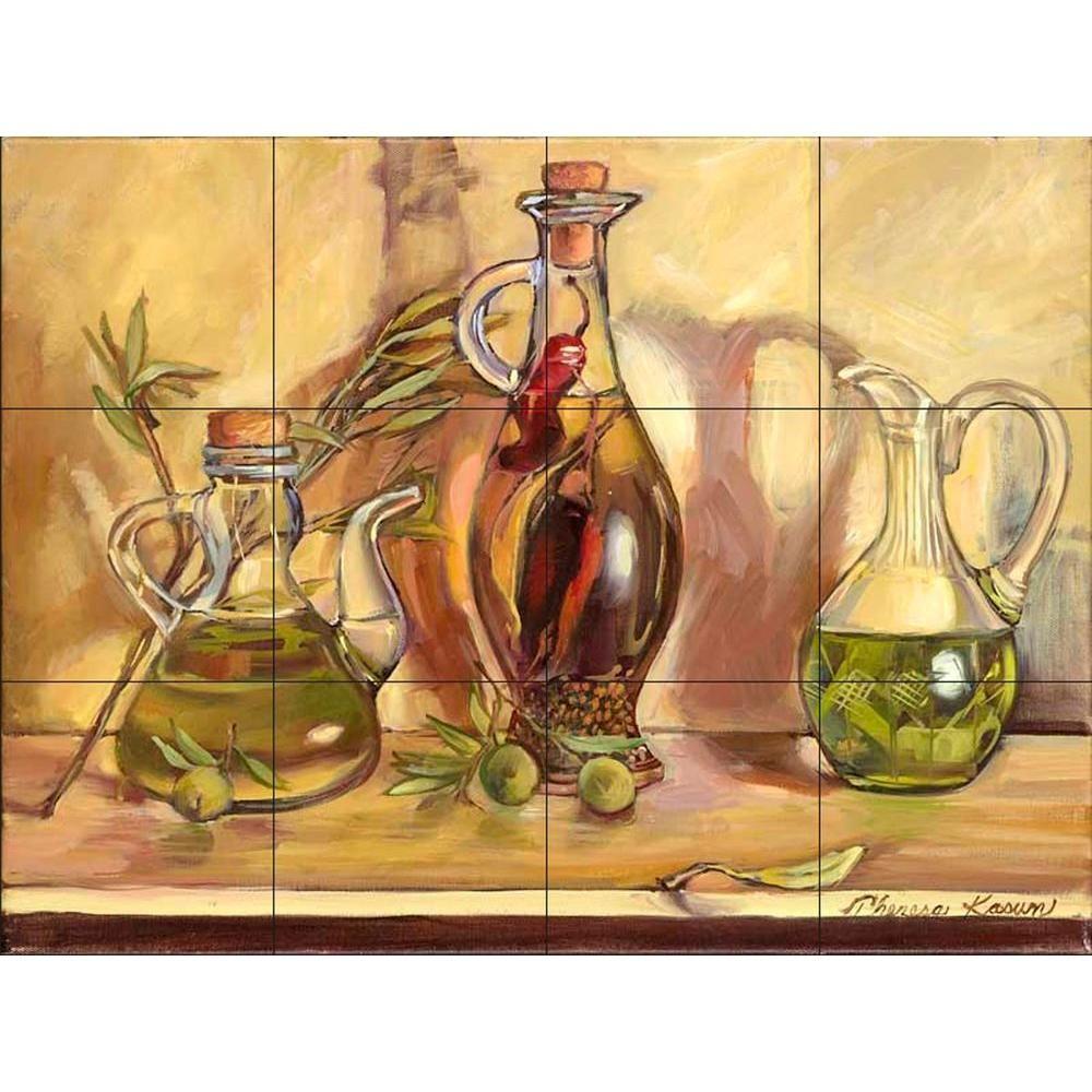 the tile mural store olive oil jars 17