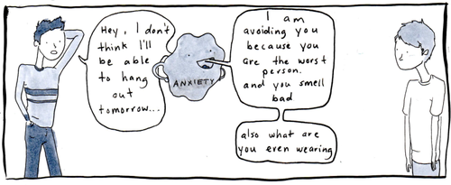 the anxiety monster (x)