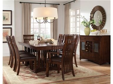 Shop For Standard Furniture Trestle Table, 13626, And Other Dining Room  Dining Tables At Bears Furniture In Franklin, PA. The Rustic, Yet Refined  Character ...