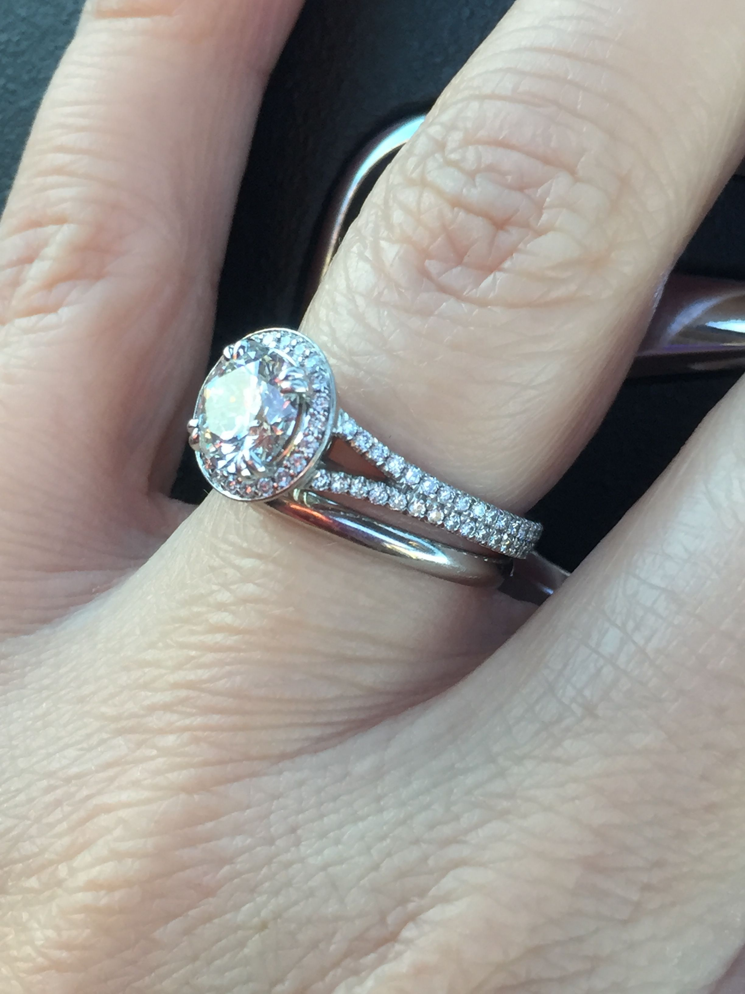 Show Me Your Plain Wedding Band With Your Engagement Ring