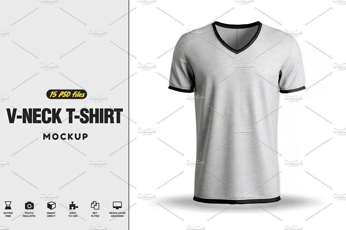 Download V Neck T Shirt Mock Up Tshirt Mockup Shirt Mockup T Shirt