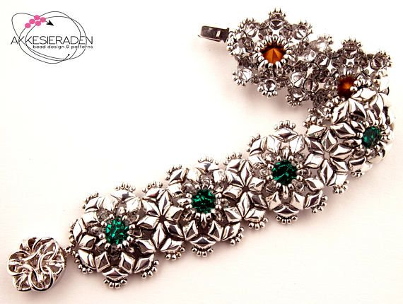 English pattern for the see the stars bracelet draht anleitung kaufen schmuck armband und - Perlenarmband basteln ...
