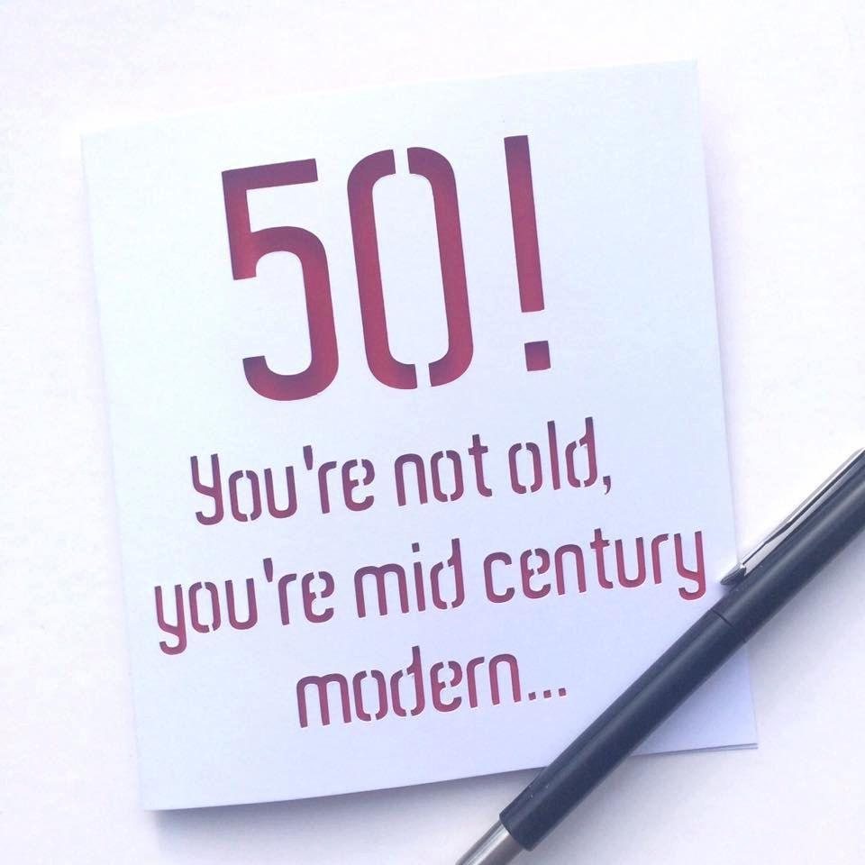 50 Card, 50th Card, Card For 50th Birthday, 50th Birthday